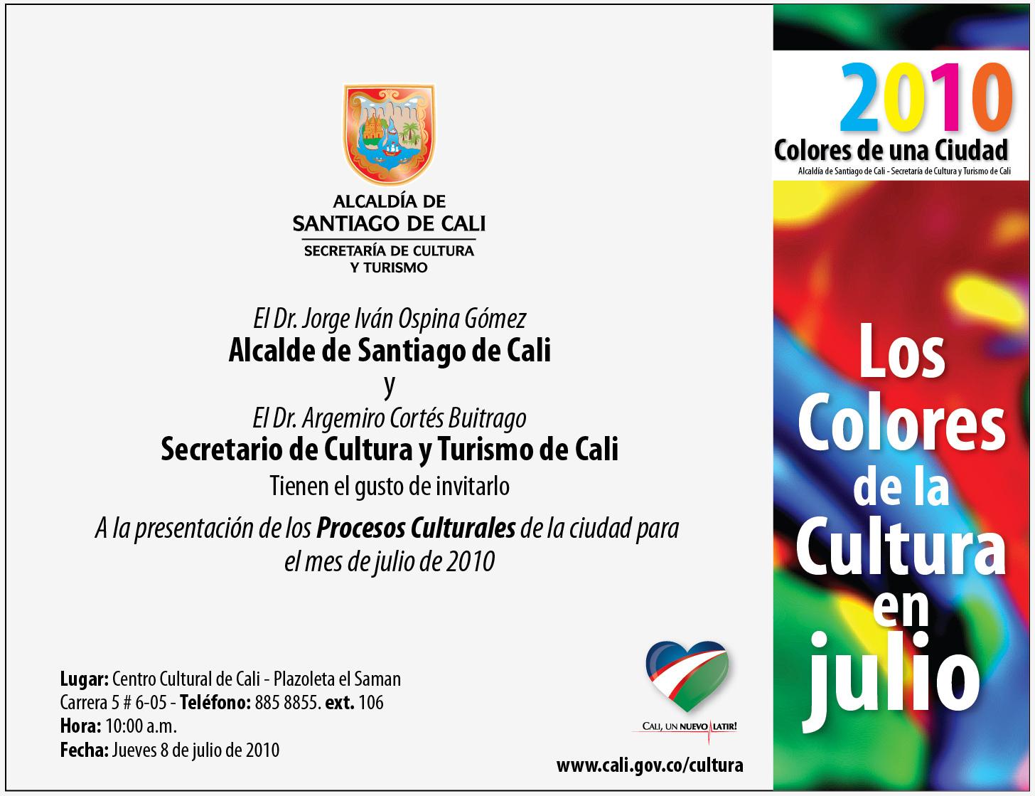 Agenda Cultural Para Julio De 2010