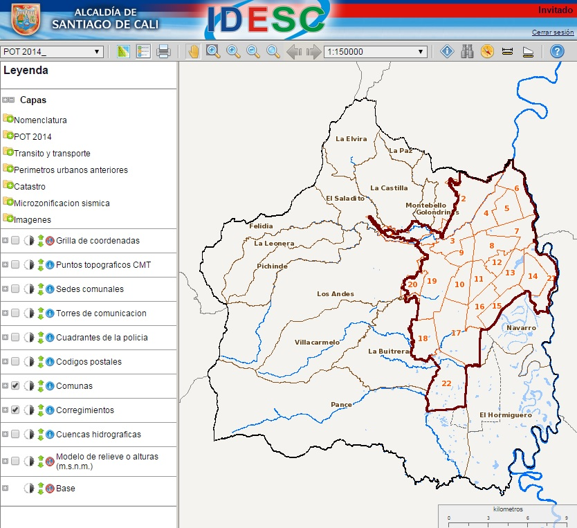 Módulos y funcionalidades para el nuevo Geovisor IDESC