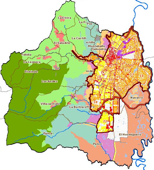 Actualización de la información geográfica del POT